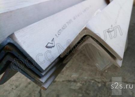 Уголки  нержавеющие горячекатаные  равнополочные сталь AISI 304