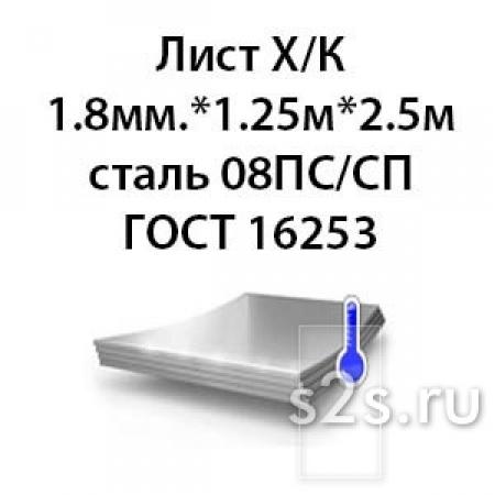 Лист 2.0 мм. х 1.25м х 2.5м